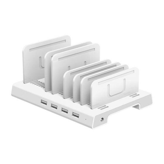 36W 4-Port USB Smart Charging Station