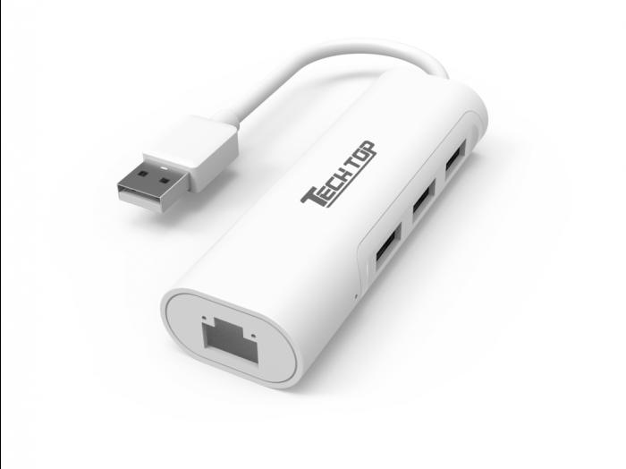 USB2.0 3-Port Hub with 10/100Mbps Ethernet