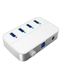 USB3.0 4-Port Charging Hub, w/5V4A Power Adapter, Aluminum Case