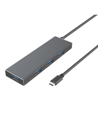 Ultra Slim Type C to USB3.0 4-Port Hub, w/Micro B Power Port