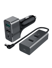 60W  USB 5-Port Car Charger (1-Port QC3.0 + 3-Port 2.4A + 1-Port Type C 3A)