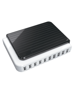 USB 10-Port Charging Station with Built-in 105W Power Adaptor
