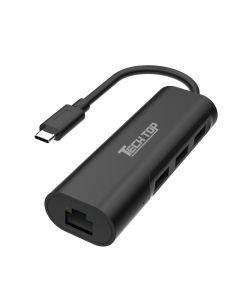 Type C to USB3.0 3-Port Hub + 1-Port Gigabit Ethernet