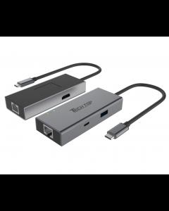 USB3.0 Type-C Aluminium Multi-Port Hub(1-Port USBType-A + 1-Port USB Type-C + HDMI + Gigabit Ethernet Converter)