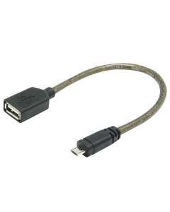 USB2.0 0.2M USB-A (F) to Micro USB (M) Cable