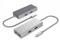 USB3.0 Type C to 2-Port A Female + 2-Port C Female Aluminum Hub